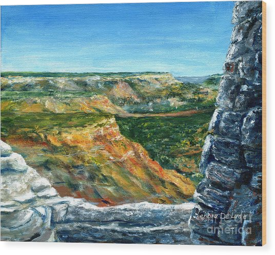 Hand Painted Palo Duro Texas Landscape Wood Print