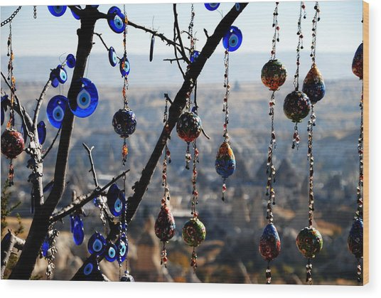 Handicrafts In Cappadocia Wood Print by Jacqueline M Lewis