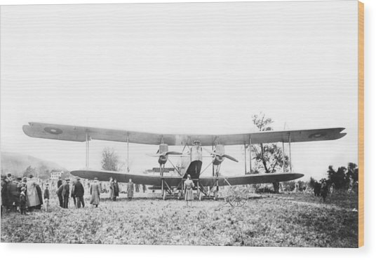 Handley Page Type O Bomber Wood Print by Library Of Congress