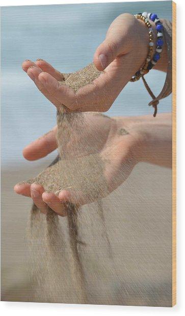 Hands Of Sands Wood Print