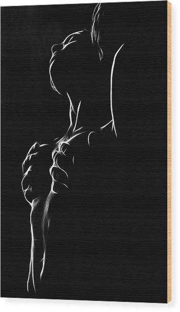 Hands On My Skin Wood Print