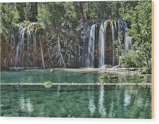 Hanging Lake Wood Print