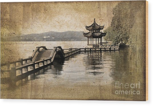 Hangzhou Lake Wood Print