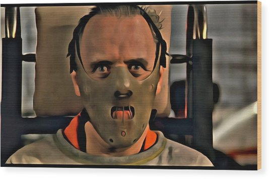 Hannibal Lecter Wood Print