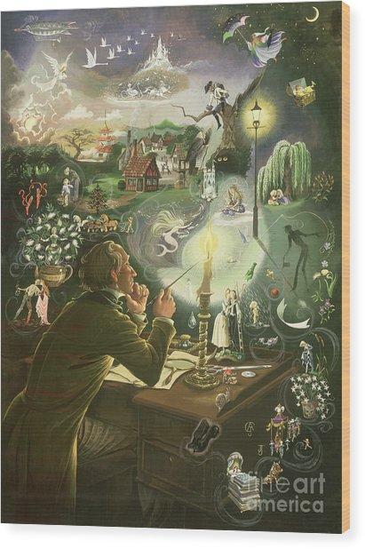 Hans Christian Andersen Wood Print