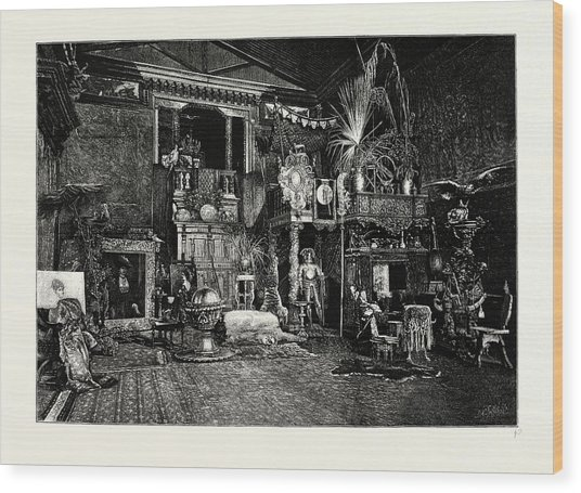 Hans Makarts Studio Wood Print by Austrian School