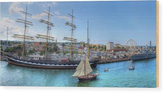 Hanse Sail Regatta Rostock  Wood Print