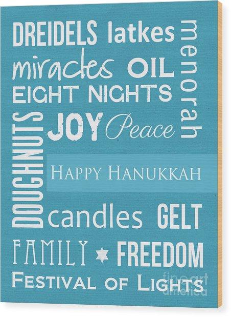 Hanukkah Fun Wood Print