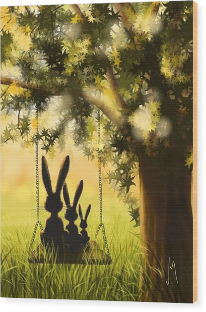 Happily Together Wood Print