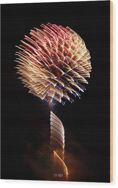 Happy Birthday America Wood Print