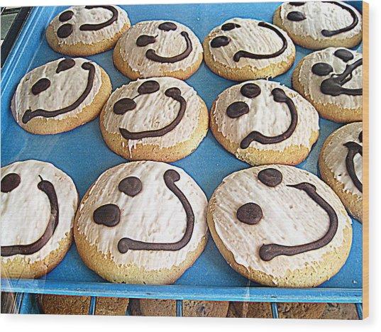 Happy Cookies Wood Print