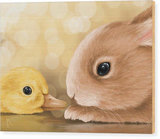 Happy Easter 2014 Wood Print