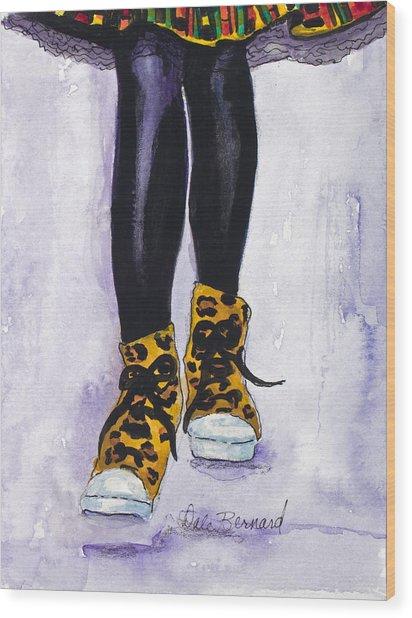 Happy Feet No. 2 Wood Print