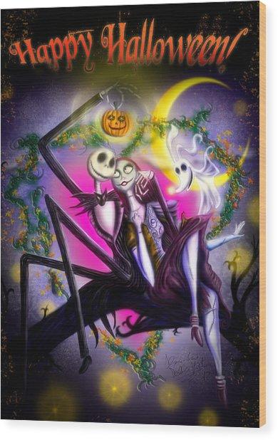 Happy Halloween II Wood Print