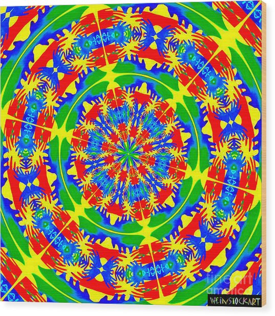 Happy Hands Mandala Wood Print