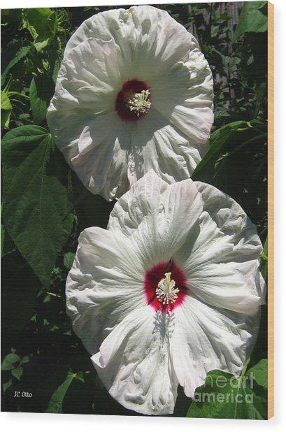 Happy Hibiscus Wood Print