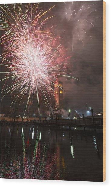 Happy New Year 2014 B Wood Print