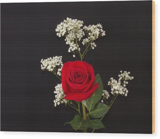 Happy Rose Wood Print