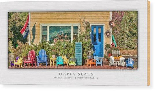 Happy Seats Wood Print