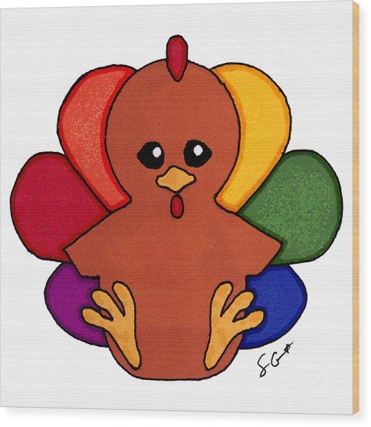 Happy Turkey Day Wood Print