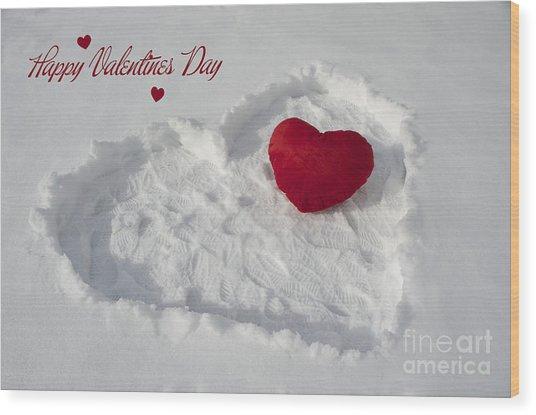 Happy Valentins Days Wood Print by Nicole Markmann Nelson