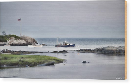 Harbor De Grace Wood Print