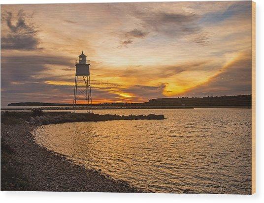 Harbor Sunrise Wood Print