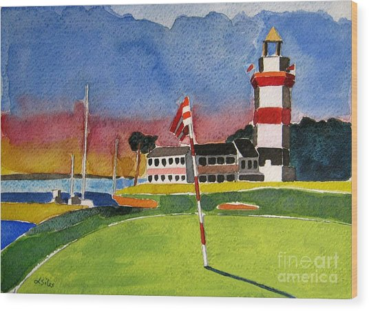 Harbour Town 18th Sc Wood Print