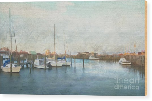 Harbor Morning Wood Print