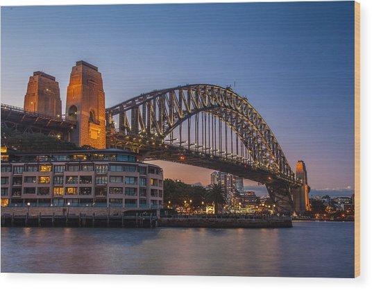 Harbour Bridge Wood Print by Dasmin Niriella