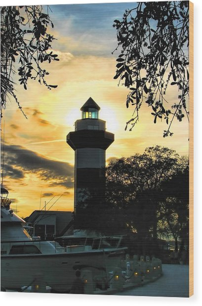 Harbour Town Lighthouse Beacon Wood Print