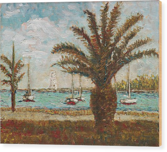 Harbour View - Nassau Wood Print