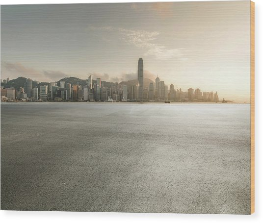 Harbour Wood Print by Yubo