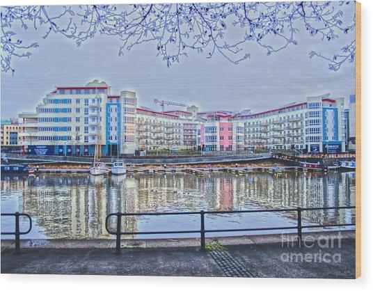 Harbourside Flats Wood Print