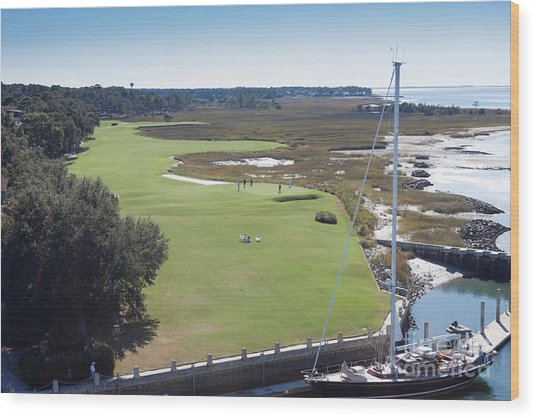 Harbourtown Golf Course 18th Hole Wood Print
