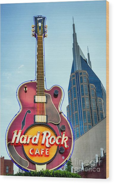 Hard Rock Cafe Nashville Wood Print