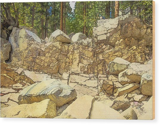 Hard Rock Forest Wood Print