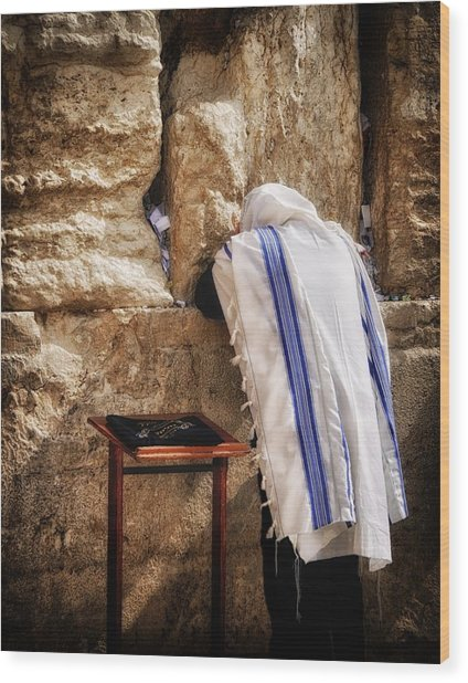 Harken Unto My Prayer O Lord Western Wall Jerusalem Wood Print
