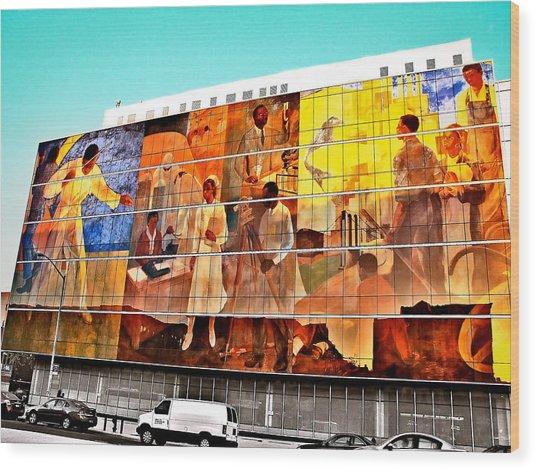 Harlem Hospital Mural Wood Print