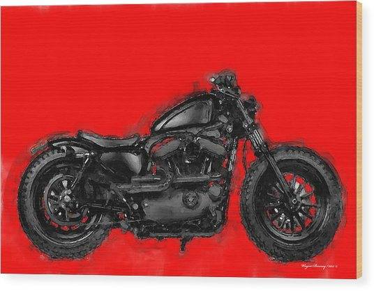 Harley 48 Wood Print