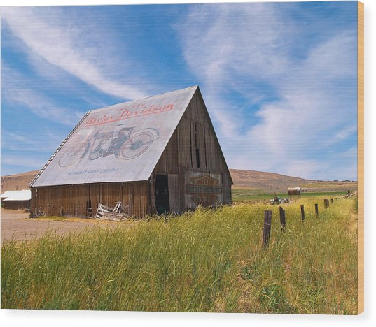 Harley Barn Wood Print