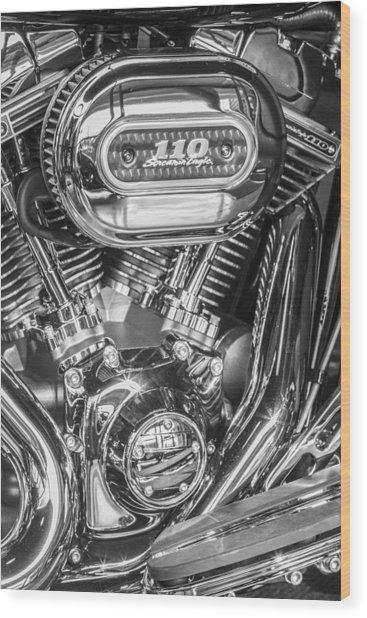 Harley Davidson 110 Wood Print