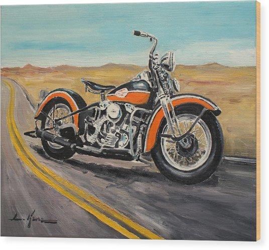 Harley Davidson 1946 Wood Print