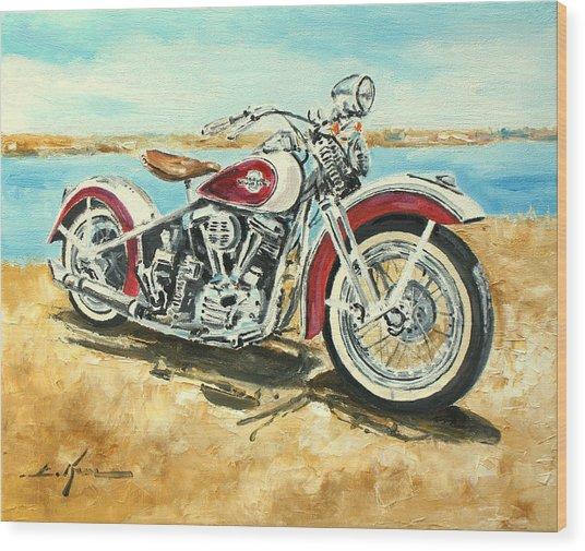 Harley Davidson 1960 Wood Print