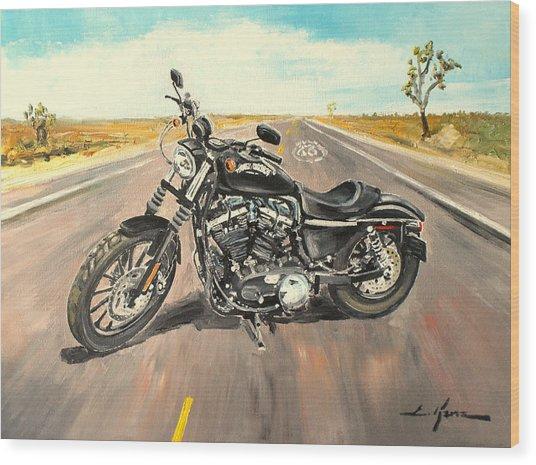 Harley Davidson 883 Sportster Wood Print