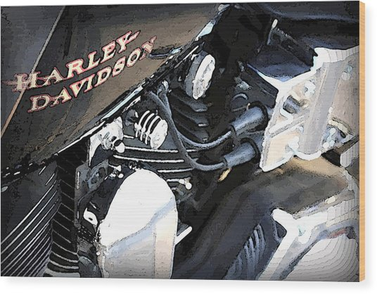 Harley - Davidson Wood Print by CarolLMiller Photography