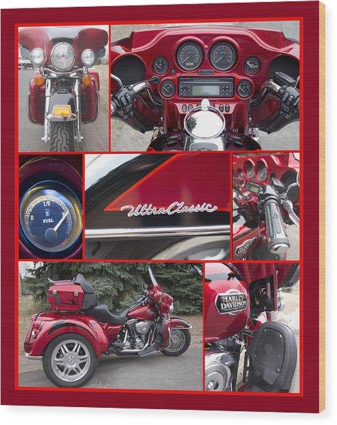 Harley Davidson Ultra Classic Trike Wood Print