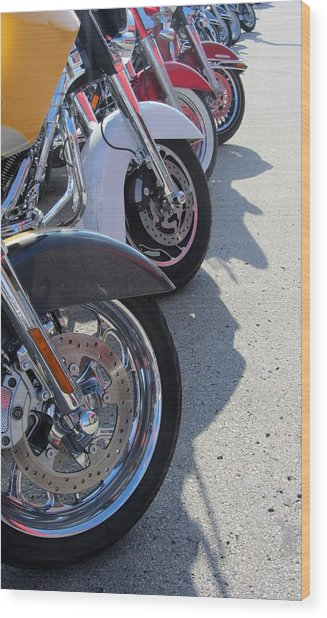 Harley Line Up 1 Wood Print
