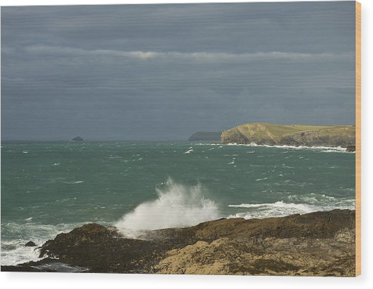 Harlyn Bay In North Cornwall Wood Print