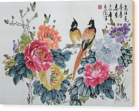 Harmony And Lasting Spring Wood Print